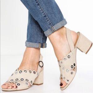 Sam Edelman Seana Suede Block Heel Sandal Heel 10